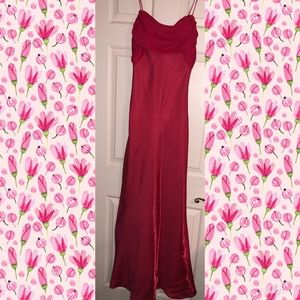 WORN 1x💜BETSY & ADAM💜Shimmery Pink Formal Dress